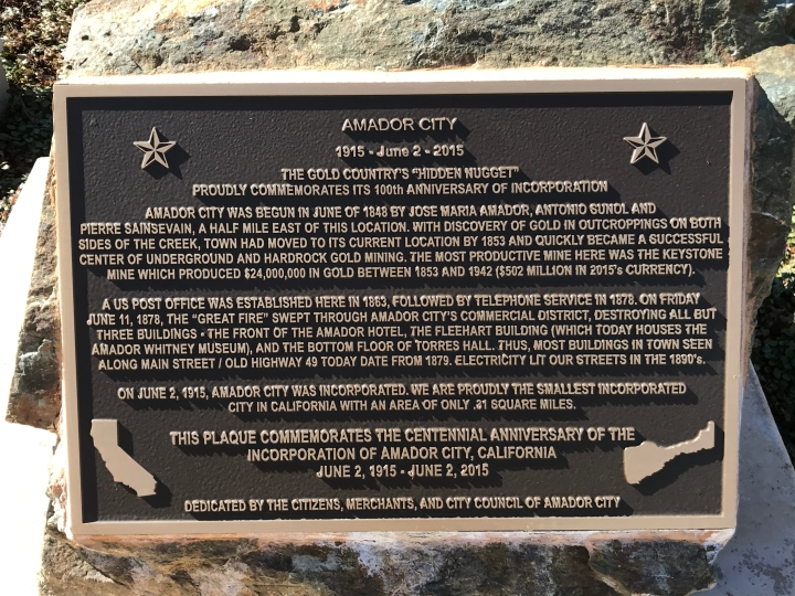 amador city plaque